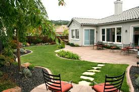 image of elegant cheap backyard landscaping ideas small back yard