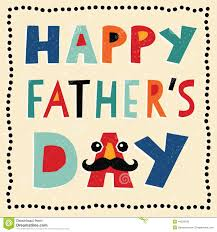 happy fathers day card with hand made text stock vector image