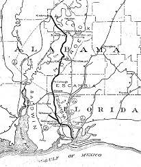 Alabama Florida Map by Gulf Florida U0026 Alabama Rr