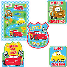 1st birthday party supplies disney cars party supplies 1st birthday decorating kit at toystop