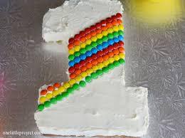 rainbow m u0026m u0027s first birthday cake tutorial birthday cakes
