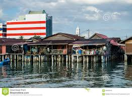 famous houses on stilts in georgetown stock photo image 66920910