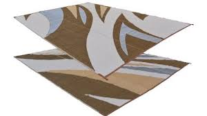 rv patio mat 9 x 18 chocolate waves pattern rv mat rv awnings store