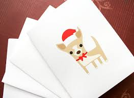 chihuahua cards set set of 6 cards and envelopes