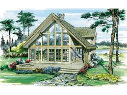 a frame cabin floor plans oakleigh pass a frame cabin home plan 062d 0052 house plans and more