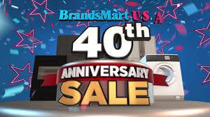 brandsmart usa s 40th anniversary sale
