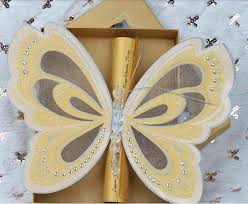 scroll wedding programs butterfly scroll wedding invitations customized wedding card