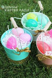 easter pails glittered easter pails