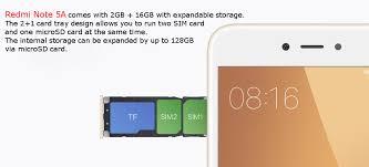 Redmi Note 5a Xiaomi Redmi Note 5a 5 5 Inch 2gb Ram 16gb Rom Snapdragon 425
