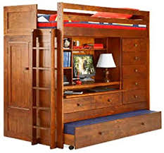 amazon com bunk bed all in 1 loft with trundle desk chest closet