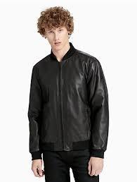 Boys Leather Bomber Jacket Men U0027s Jackets Calvin Klein