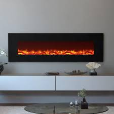 moda flame skyline 72 in skyline log electric wall mounted
