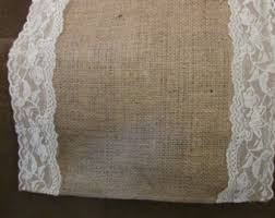 Burlap Lace Table Runner Burlap Lace Runner Etsy