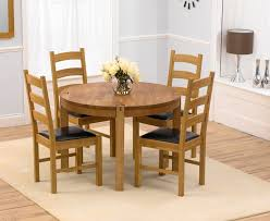 Solid Wood Round Dining Table For  Insurserviceonlinecom - 4 chair dining table designs