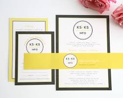 after wedding invitations yellow and gray wedding invitations u2013 wedding invitations