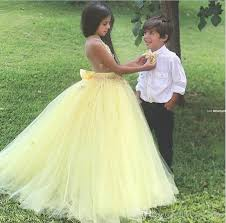 new fairy flower girls u0027 dress light yellow garden petal princess