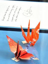 hiroshima peace museum puts obama u0027s paper cranes on display the