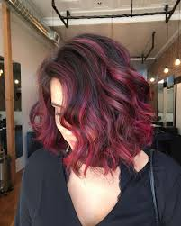 dark burgundy hair color ombre hairstyle haircut today