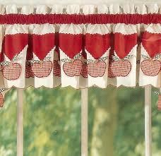 Red Kitchen Curtain by Kitchen Heart Mag