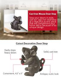 Door Stops Amazon Com Cast Iron Mouse Door Stop Decorative Rustic Door