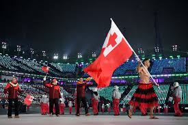 Canada Flag Bearer Tonga U0027s Shirtless Flag Bearer Is Olympics Opening Ceremony Star