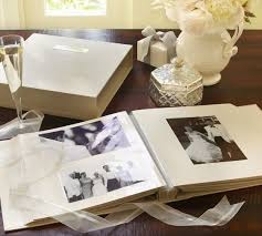 rustic wedding albums engravable photo album pottery barn