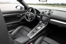 porsche cars interior 2017 porsche 718 boxster first drive review