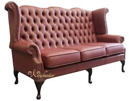 high back leather sofa chesterfield 3 seater queen anne high back wing sofa burgandy