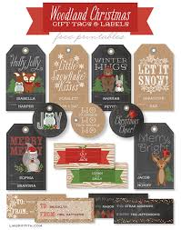 Christmas Gift Dad - woodland christmas gift tags and labels worldlabel blog