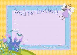 free printable party invitations fairy princess birthday party