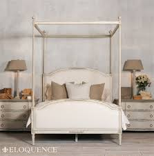 Upholstered Canopy Bed Free Shipping Eloquence S Dauphine Canopy Bed With