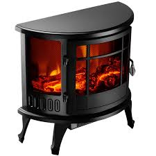 1500w heater 23 u2033 standing electric fireplace stove realistic flame