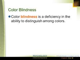 Color Blindness Psychology Sensation Chapter 4 Lessons 4 1 Basic Principles Of Sensation