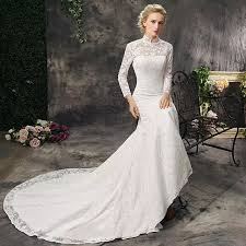 wedding dress traditions china traditional high neck lace mermaid wedding