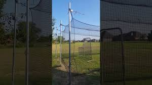 diy batting cage cheap 40 x 12 youtube