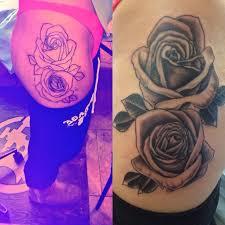 Big Flower Tattoos On - big on hip thigh 2 fists big in