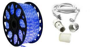 150 ft blue led rope light kit 120v ledropekits blue by aql