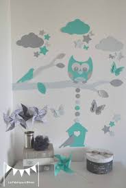stickers animaux chambre bébé moderne enfant garcon arbre la sticker bleu deco coucher idees cage