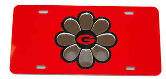 uga alumni car tag uga bulldogs flower tag
