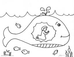 Jonah Coloring Pages Bible Archives At Jonah And The Whale With Whale Color Page