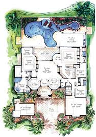 florida house plans with pool florida house plans with pool cottage courtyard 4 master suites