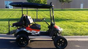 harley themed e z go rxv off road gas golf cart