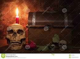halloween skull with candle background still life painting photography with human skull rose candle a