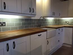 fitted kitchen ideas our kitchen fitted ourselves tiled ourselves metro tiles