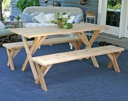 amazon com 5 u0027 backyard bash cross legged picnic table natural
