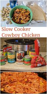 slow cooker cowboy chicken recipe easy and healthy shredded