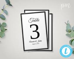 floral wedding table numbers template 4x6 printable table