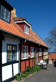 scandinavian houses row colourful traditional scandinavian houses stock photo