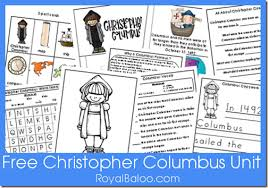free christopher columbus unit printables free homeschool deals