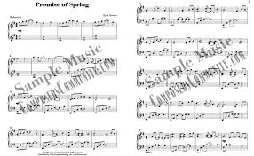 promise of spring by ryan chesser sheet music piano pronto